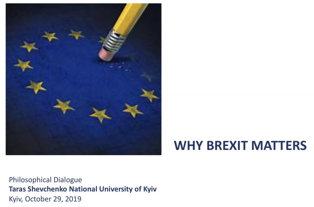 Why Brexit Matters - Dr. Marc-Milo Lube at Taras Shevchenko National University of Kyiv